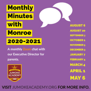 Monthly Minutes with Monroe @ Zoom Call